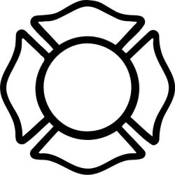 firefighter cross fire maltese fireman department clipart silhouette coloring badge clip decals decal police helmet firefighters emt outline template stencil