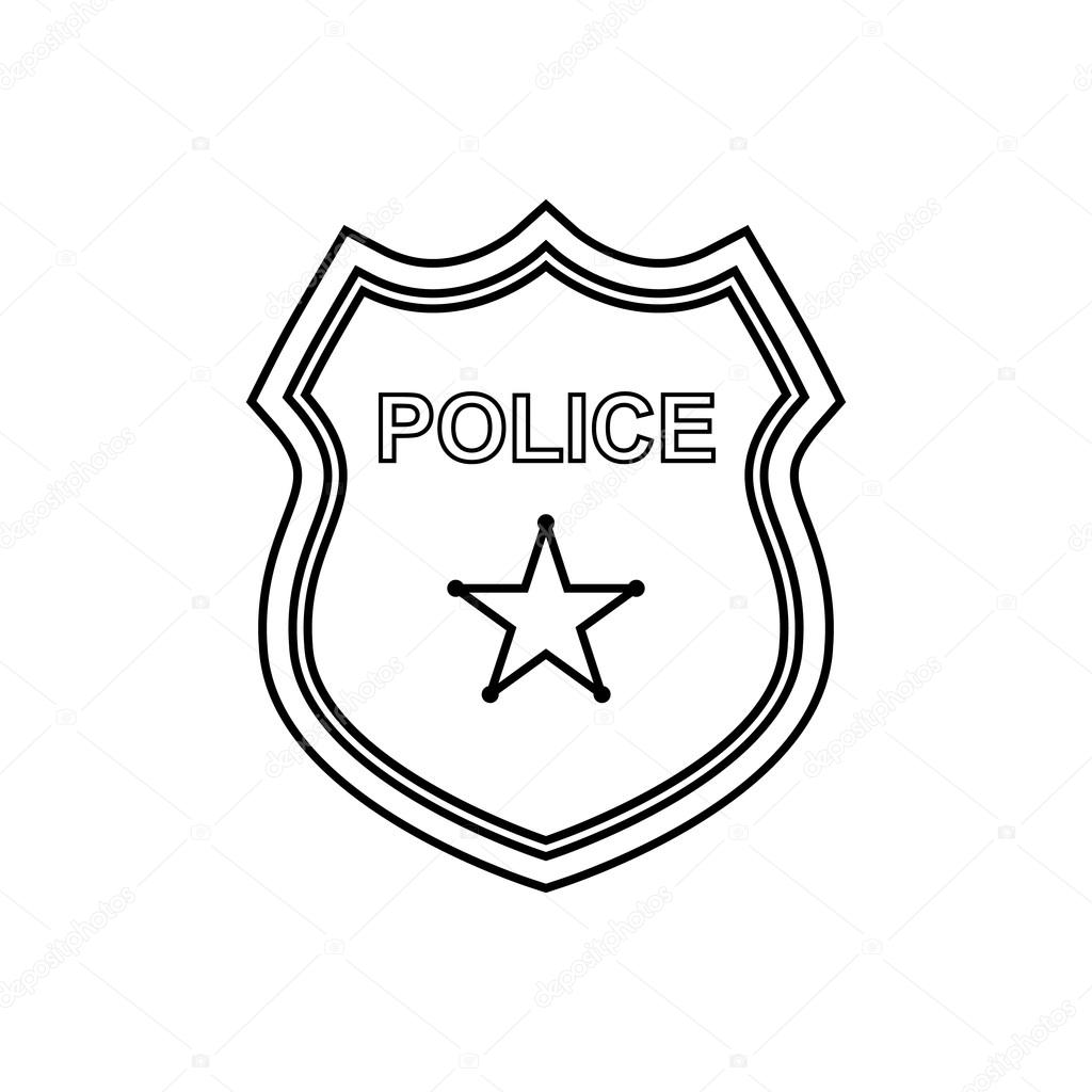 Police Badge Outline