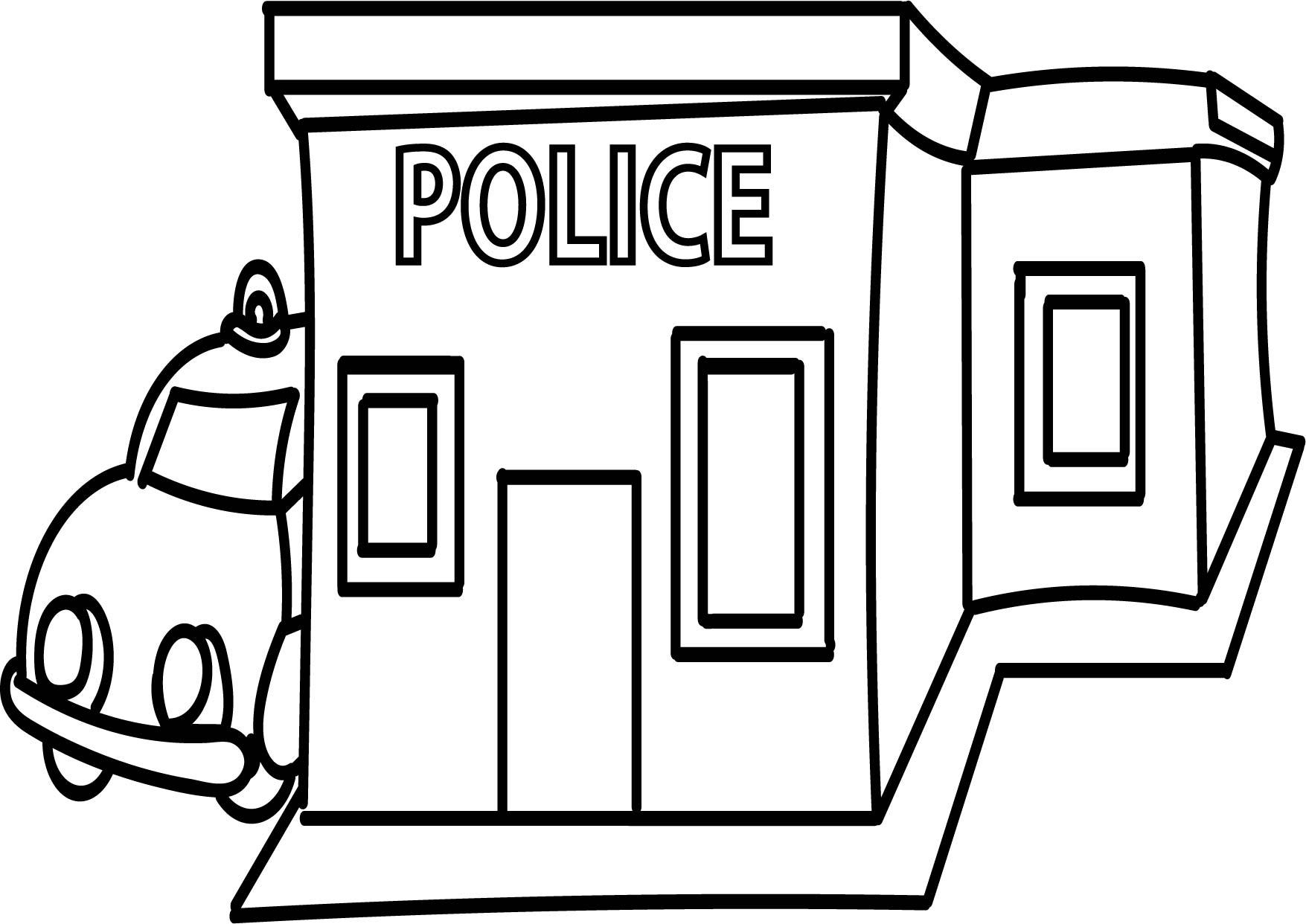 Police Building Cliparts