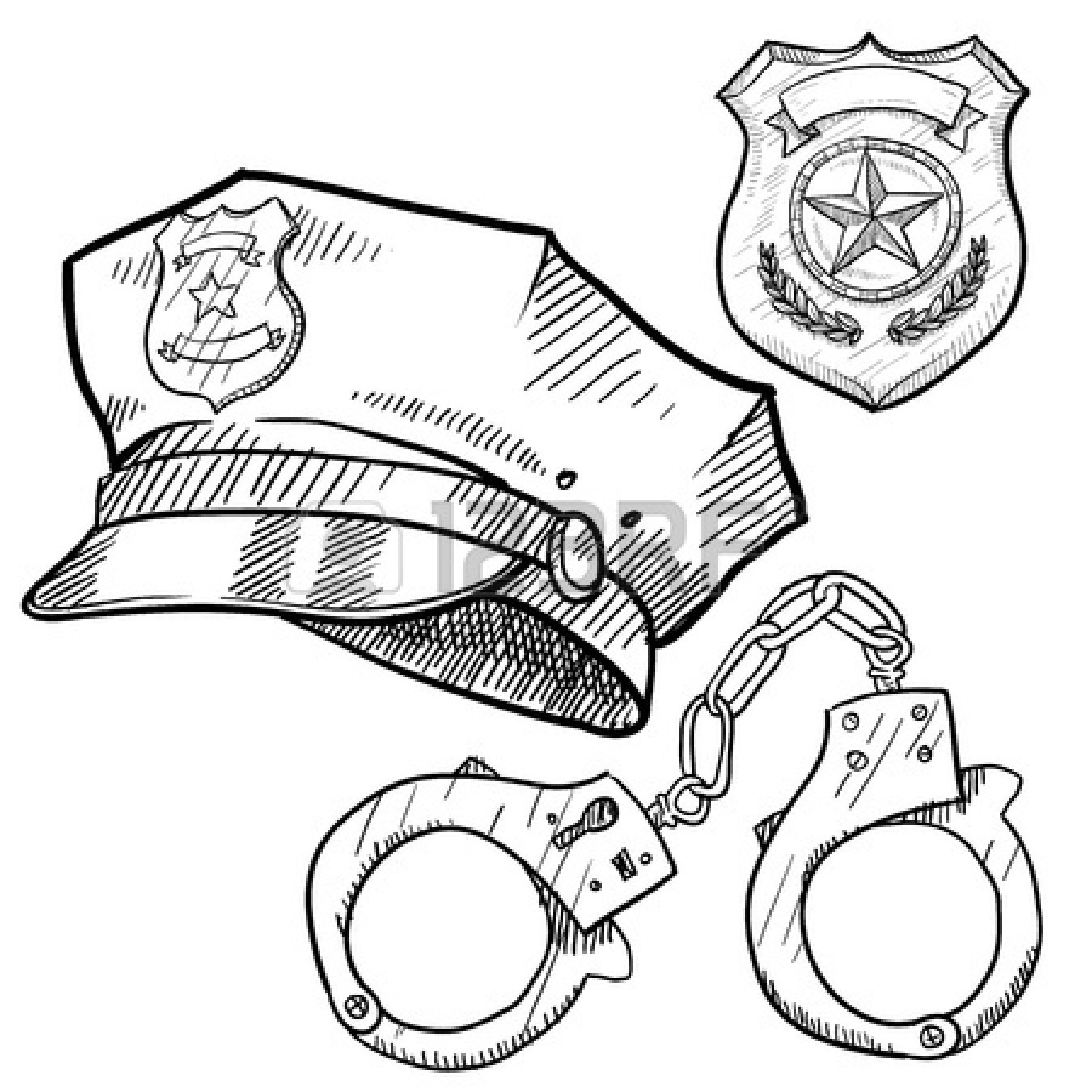 Policeman Clipart Black And White
