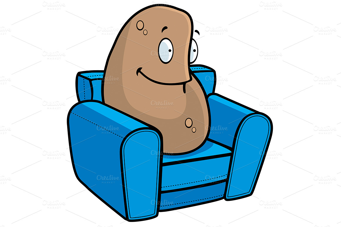 hight resolution of 1160x772 couch potato clipart