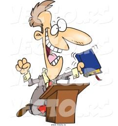 1024x1044 vector of a cartoon white televangelist man preaching [ 1024 x 1044 Pixel ]