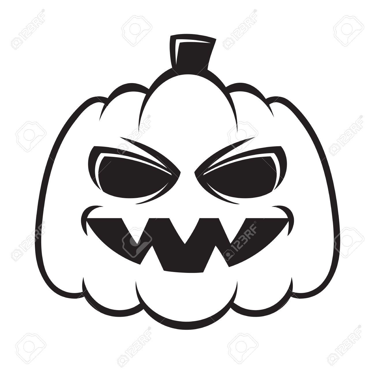 Pumpkin Image Black And White