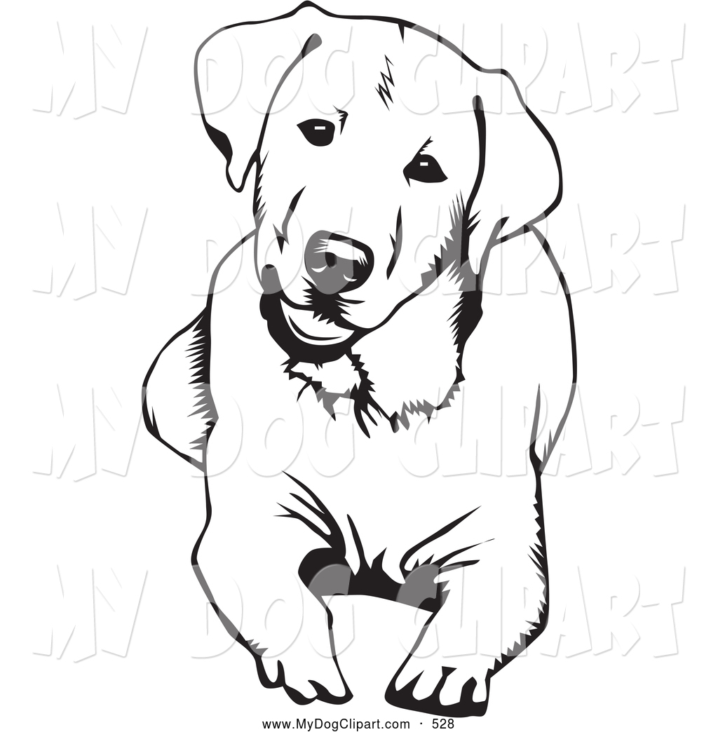 Puppy Clipart Black And White