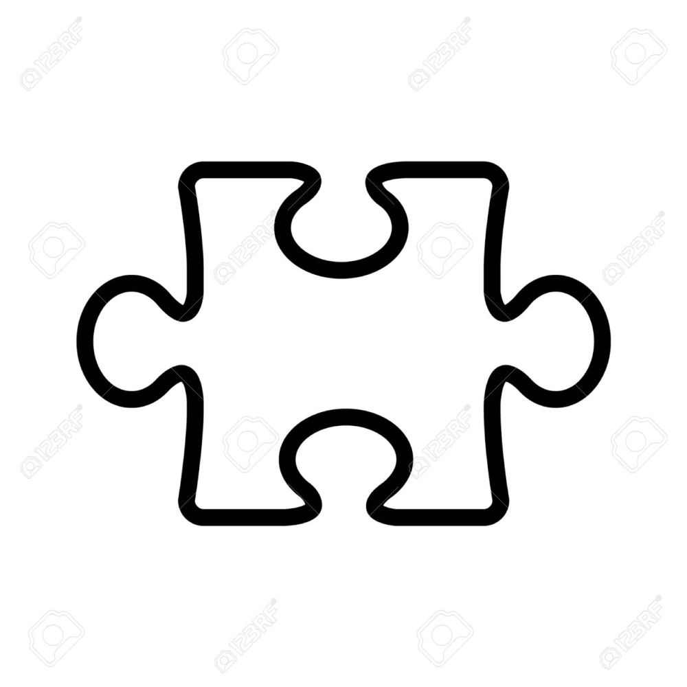 medium resolution of 1300x1300 puzzle clipart line