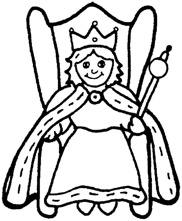 coloring pages kids fairy tale king queen # 32