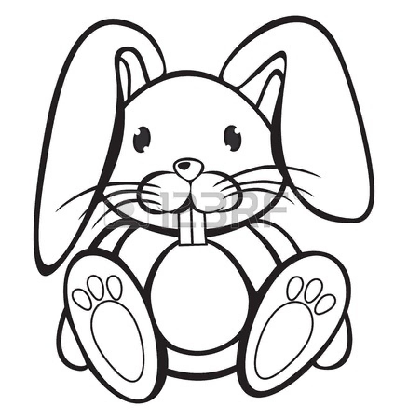 Rabbit Black And White Clipart
