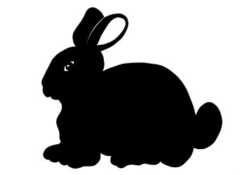 rabbit bunny silhouette clipart easter outline clip cute svg playboy cliparts library backgrounds head gmp simple clipartbest vector christmas convert