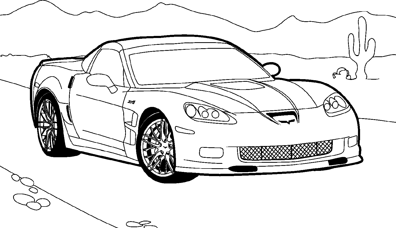 Race Car Clipart Black And White