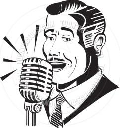 940x940 cartoon radio announcer vector illustration by clip art guy toon [ 940 x 940 Pixel ]