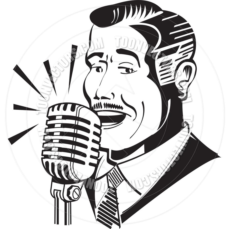 medium resolution of 940x940 cartoon radio announcer vector illustration by clip art guy toon