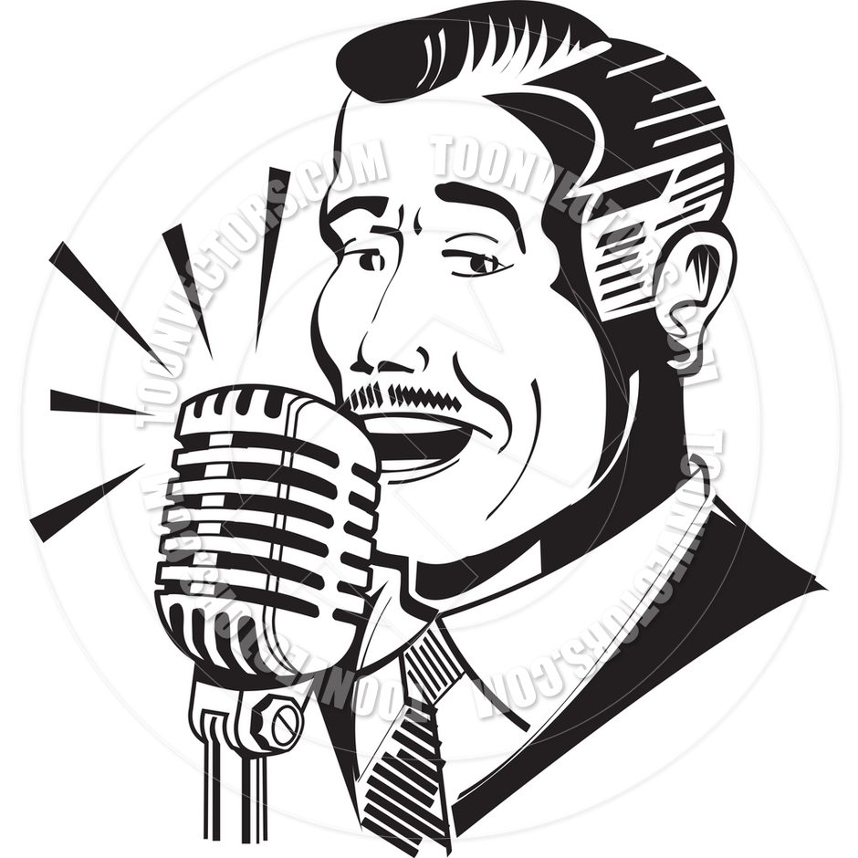 hight resolution of 940x940 cartoon radio announcer vector illustration by clip art guy toon