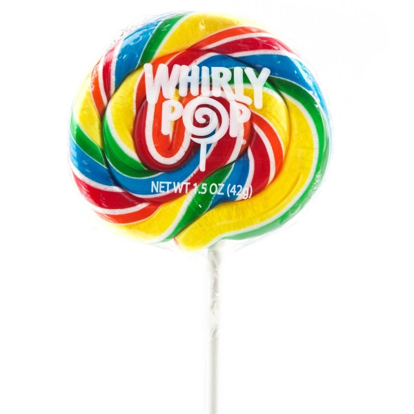 Rainbow Swirl Lollipop Free
