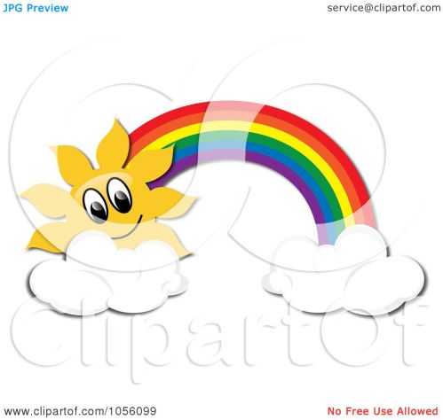 small resolution of 1080x1024 royalty free vector clip art illustration of a sun and rainbow