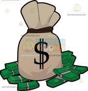 raining money clipart free