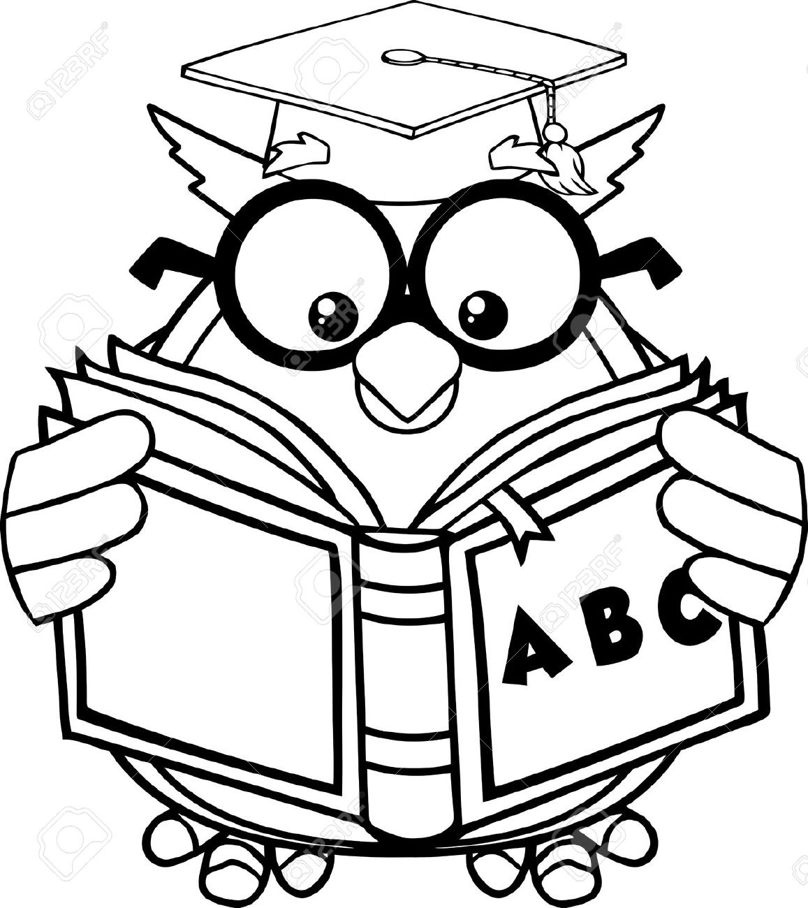 Reading Clipart Black And White