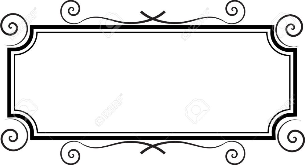medium resolution of 1300x703 rectangle frame royalty free cliparts vectors and stock