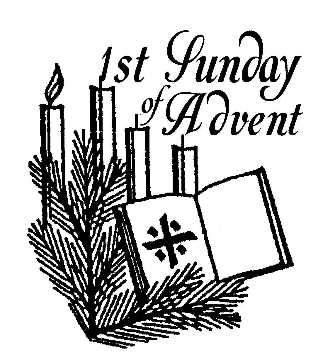 hight resolution of religious advent clipart