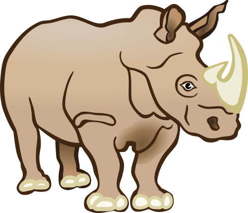 small resolution of 4000x3432 free clipart of a rhino
