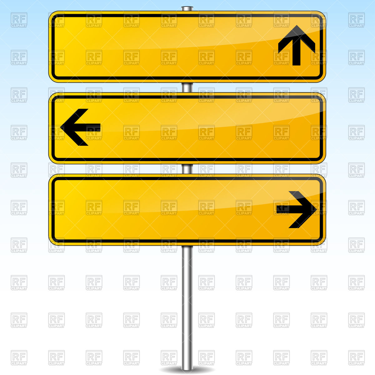Road Sign Template Clipart
