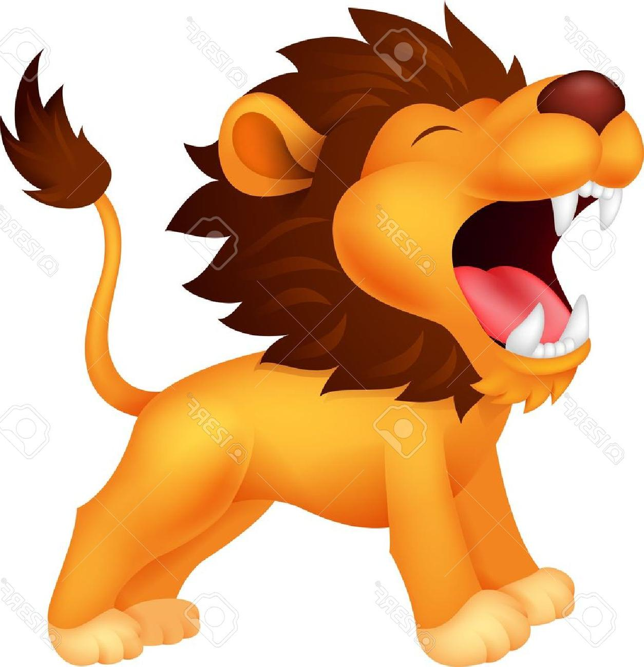 hight resolution of 1254x1300 unique lion cartoon roaring stock vector drawing file free