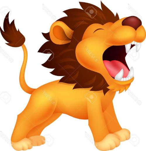 small resolution of 1254x1300 unique lion cartoon roaring stock vector drawing file free