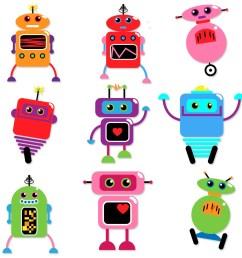 1000x1000 robots clip art clipart retro robot party clipart clip art [ 1000 x 1000 Pixel ]