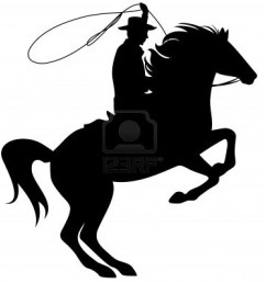 1200x1194 rodeo silhouette clipart [ 1200 x 1194 Pixel ]