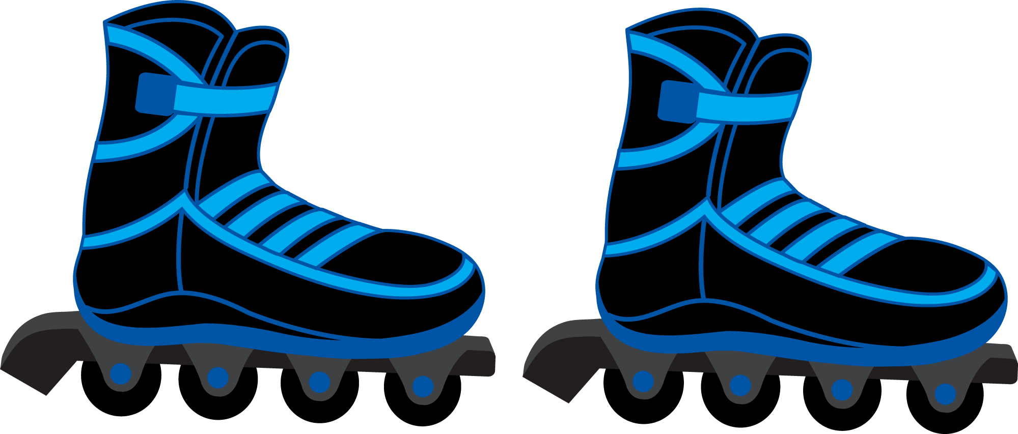 hight resolution of 450x413 clipart of retro style winged roller skate k5345130 8272x3530 cool blue and black rollerblades