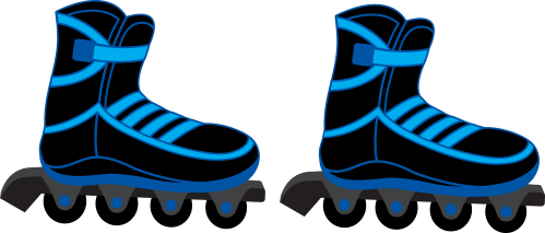 small resolution of 450x413 clipart of retro style winged roller skate k5345130 8272x3530 cool blue and black rollerblades