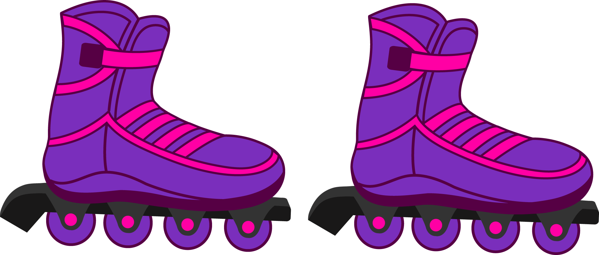hight resolution of 8285x3534 figurine clipart roller skating