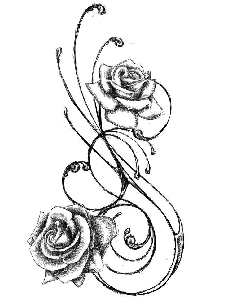 Rose Tattoo Designs Drawings