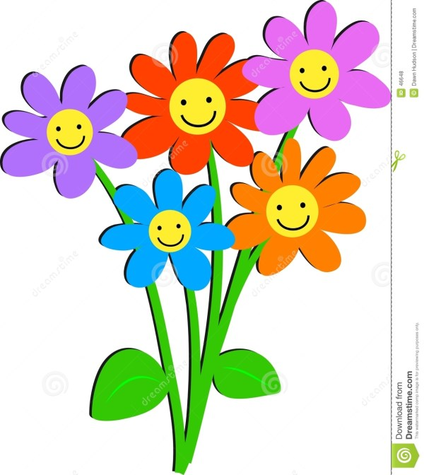 Row Of Flowers Clipart Free