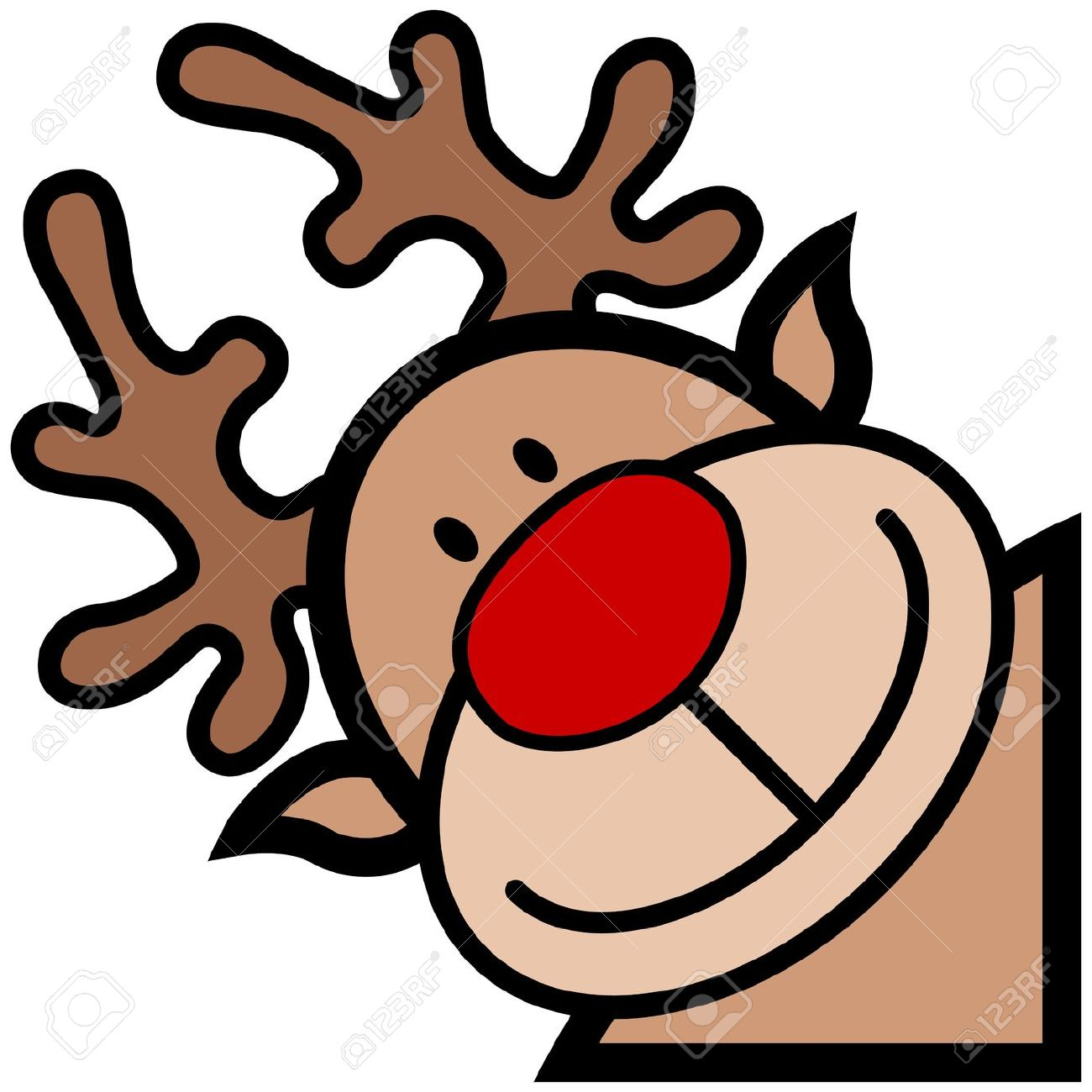 Rudolph Clip Nosed Art Red New Art Year Amp Clip Xmas Reindeer