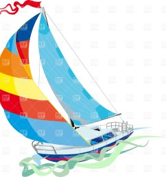 1167x1200 yacht sailing on waves royalty free vector clip art image [ 1167 x 1200 Pixel ]