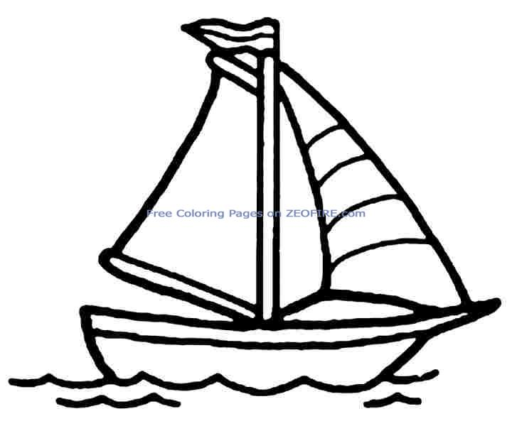 Sailboat Drawing For Kids Free download on ClipArtMag