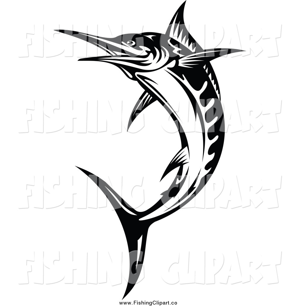 Sailfish Silhouette Cliparts