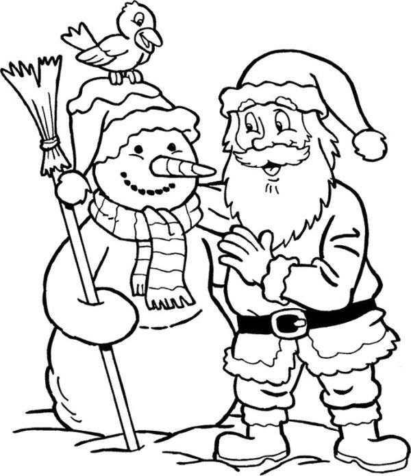 coloring pages of santa claus # 49