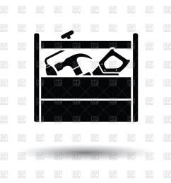 1200x1200 tool box icon with saw hammer and spanner royalty free vector [ 1200 x 1200 Pixel ]