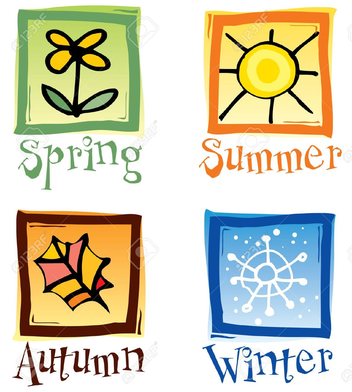 Seasons Clipart For Kids