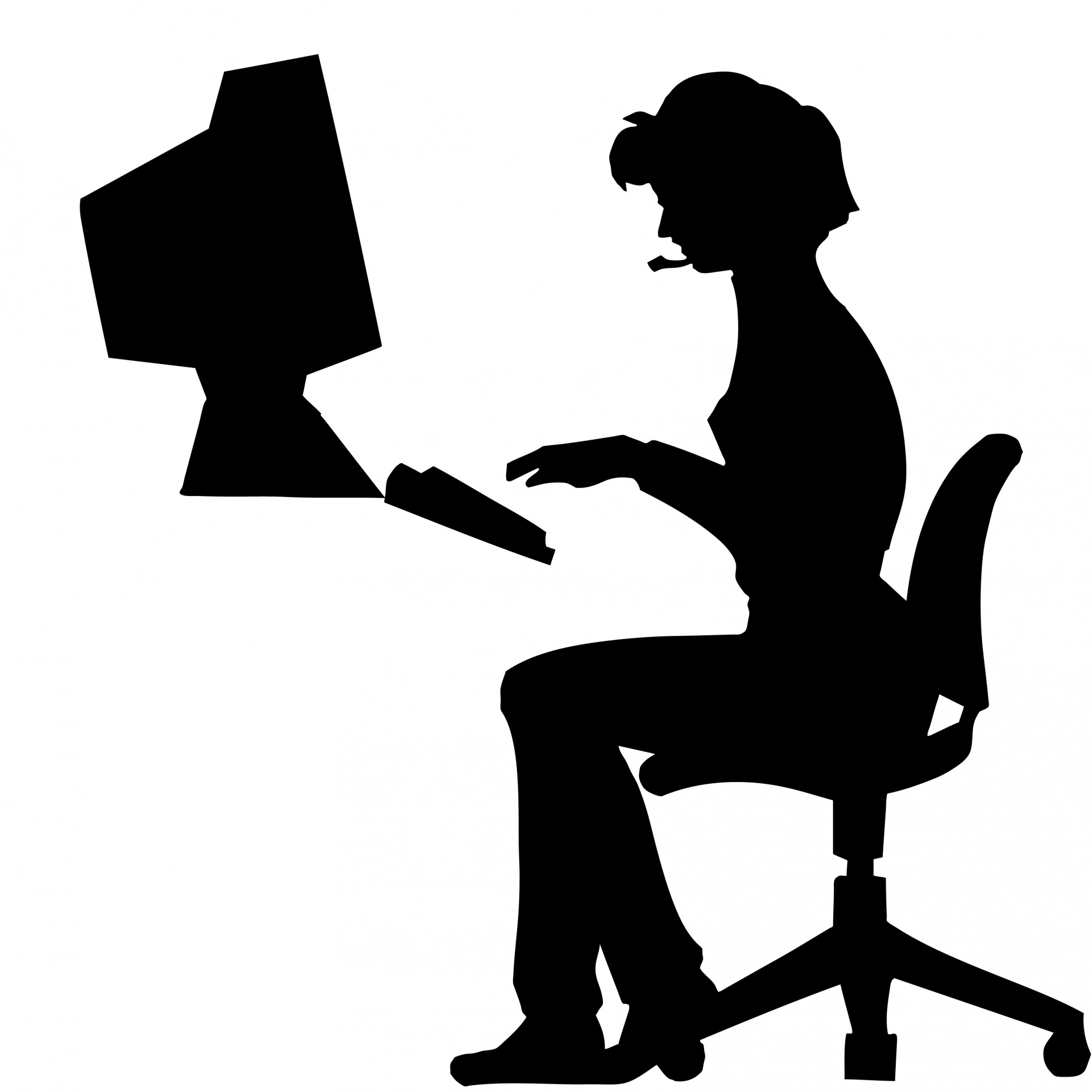 hight resolution of 1920x1920 woman typing office computer free stock photo