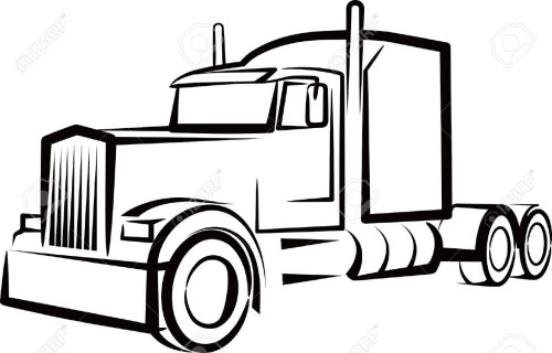 small resolution of 1300x833 semi truck outline drawing simple illustration with a truck