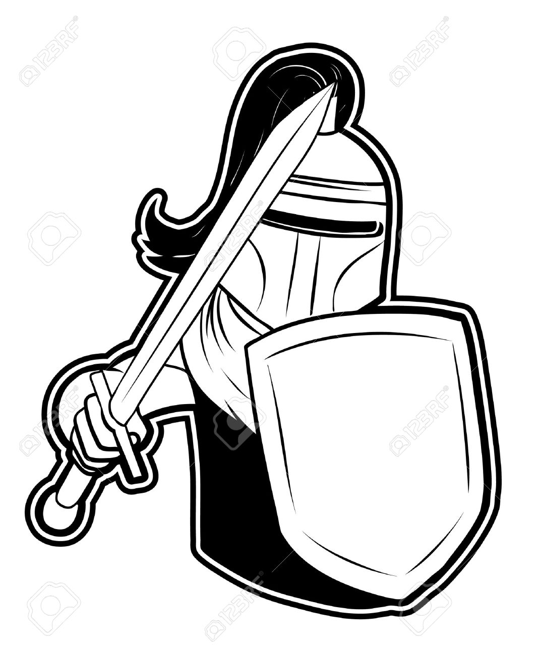 Shield And Sword Clipart