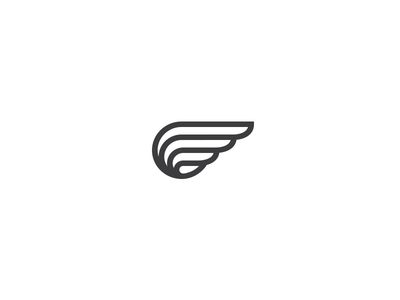 shoe with wings logos