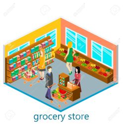 mall clipart shopping grocery isometrische supermarkt interieur kruidenier clipartmag depositphotos cliparts stockvectors illustraties rechtenvrije