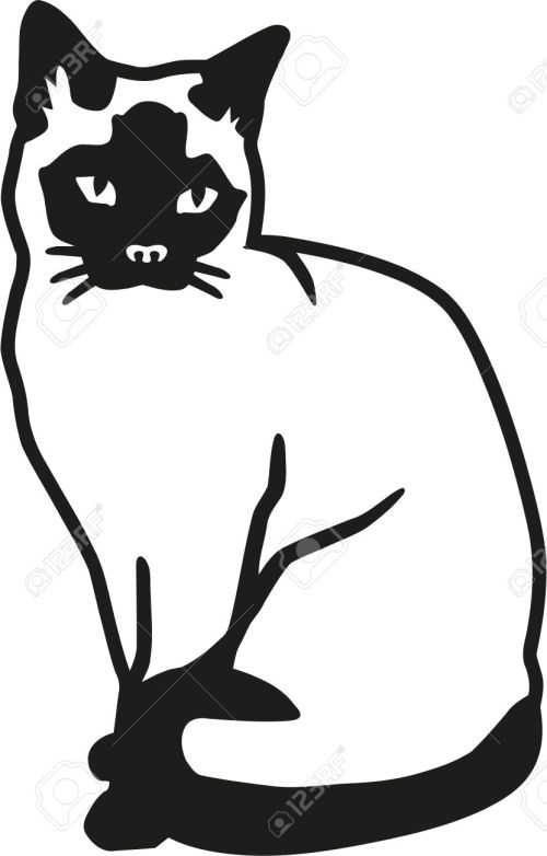 small resolution of 831x1300 siamese cat clipart vector