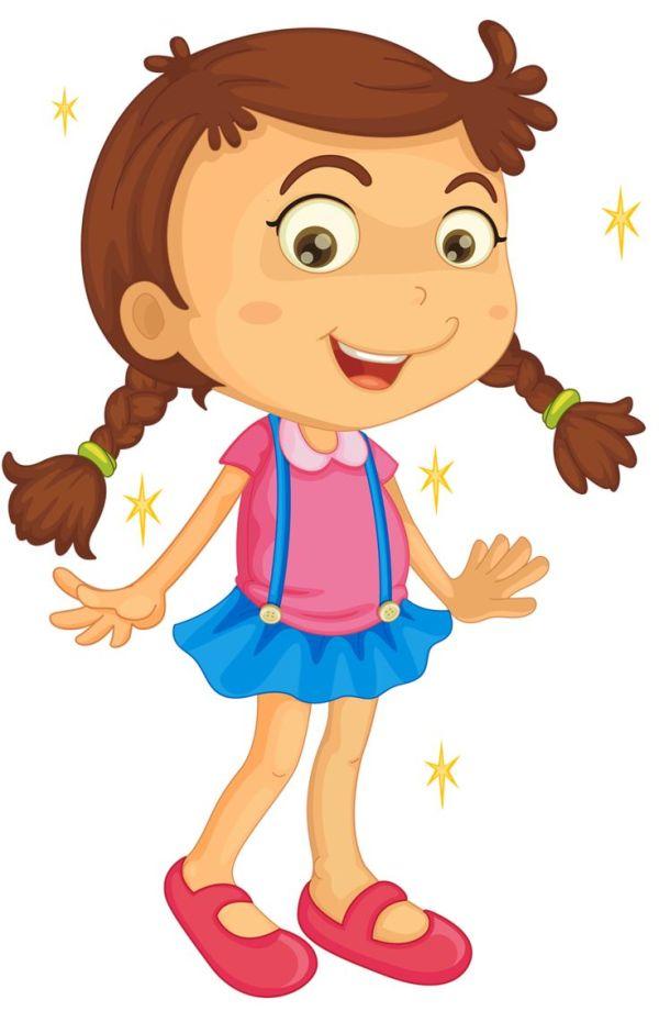 sick little girl clipart free