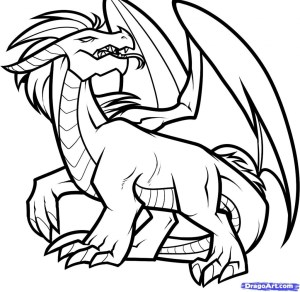 dragon outline simple draw drawings drawing line dragons clipart chinese step designs clipartmag japanese dragoart face cliparts getdrawings