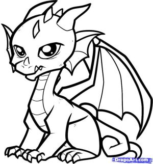 dragon outline simple drawings clipartmag