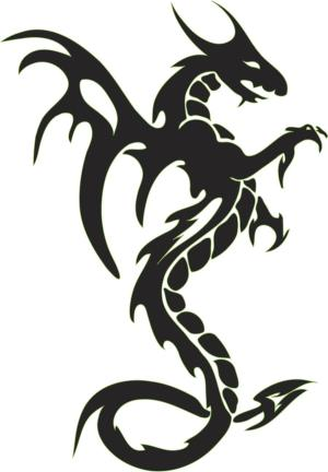 dragon tattoo designs simple tattoos clipart easy tribal dragons outline cliparts cool breathing fire mythical japan tatoo clipartbest google emblem